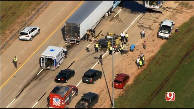One Dead In Crash On Interstate 40 Near Mustang