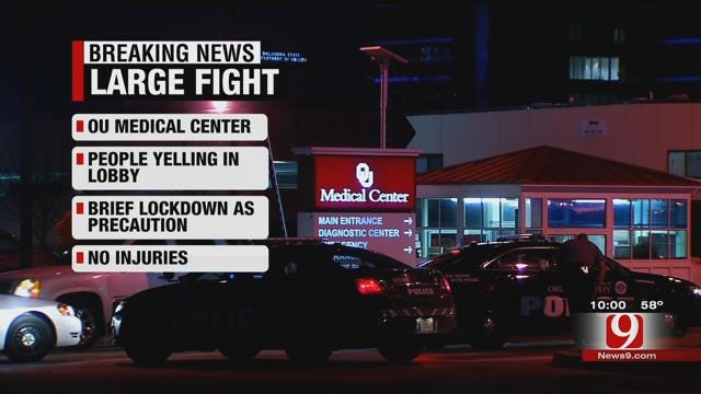OU Medical Put On Lockdown After Fight
