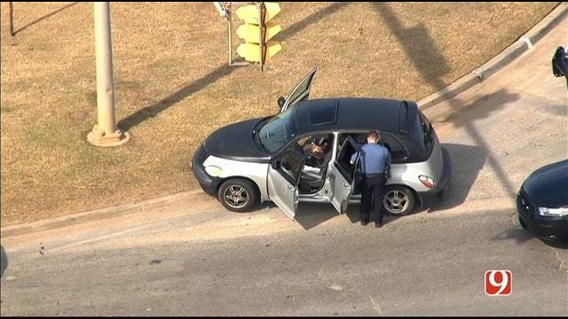 Police Chase Ends In Crash In Northwest OKC