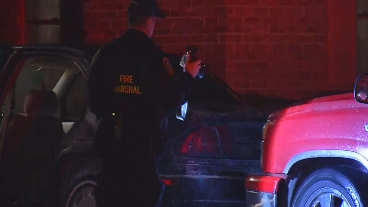 Authorities Investigate Arson After Four Cars Set On Fire In OKC