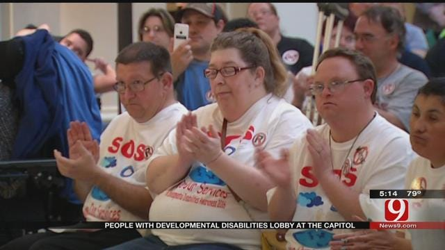 Developmentally Disabled Individuals Lobby At Oklahoma Capitol