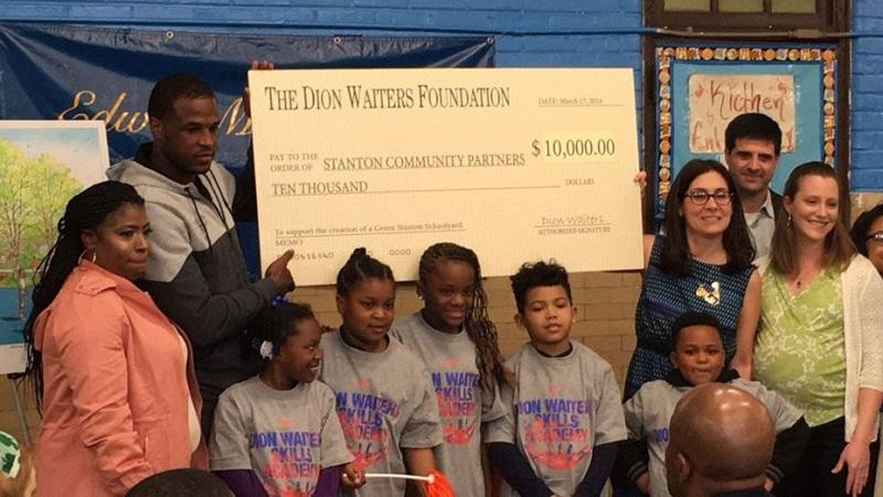 Dion Waiters Donates $10,000 To Former South Philly Elementary School