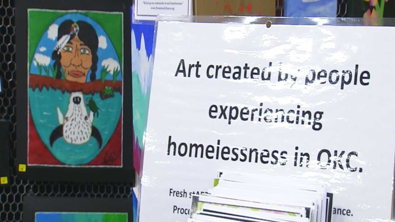 Homeless Artists Show Off, Sell Works At Show