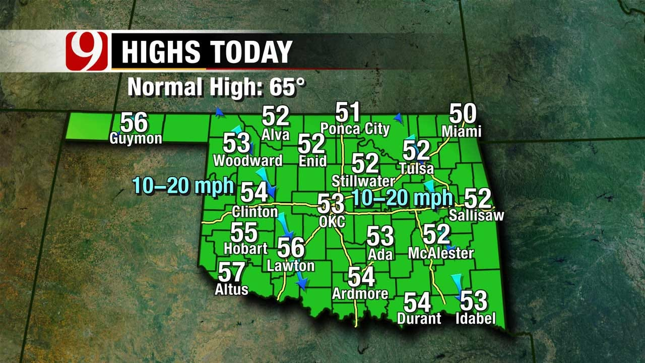 First Day Of Spring Cold Across Oklahoma Sunday