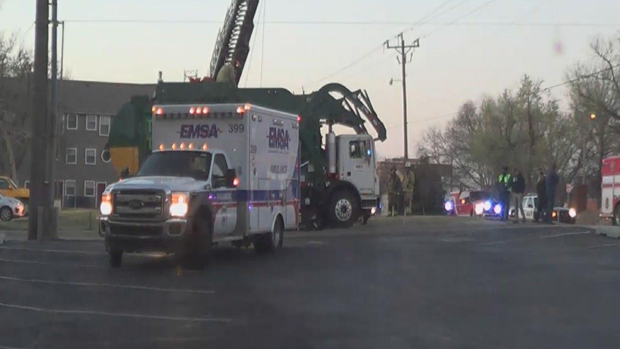 Man Injured After Being Found In Trash Truck In OKC