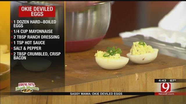 Okie Deviled Eggs