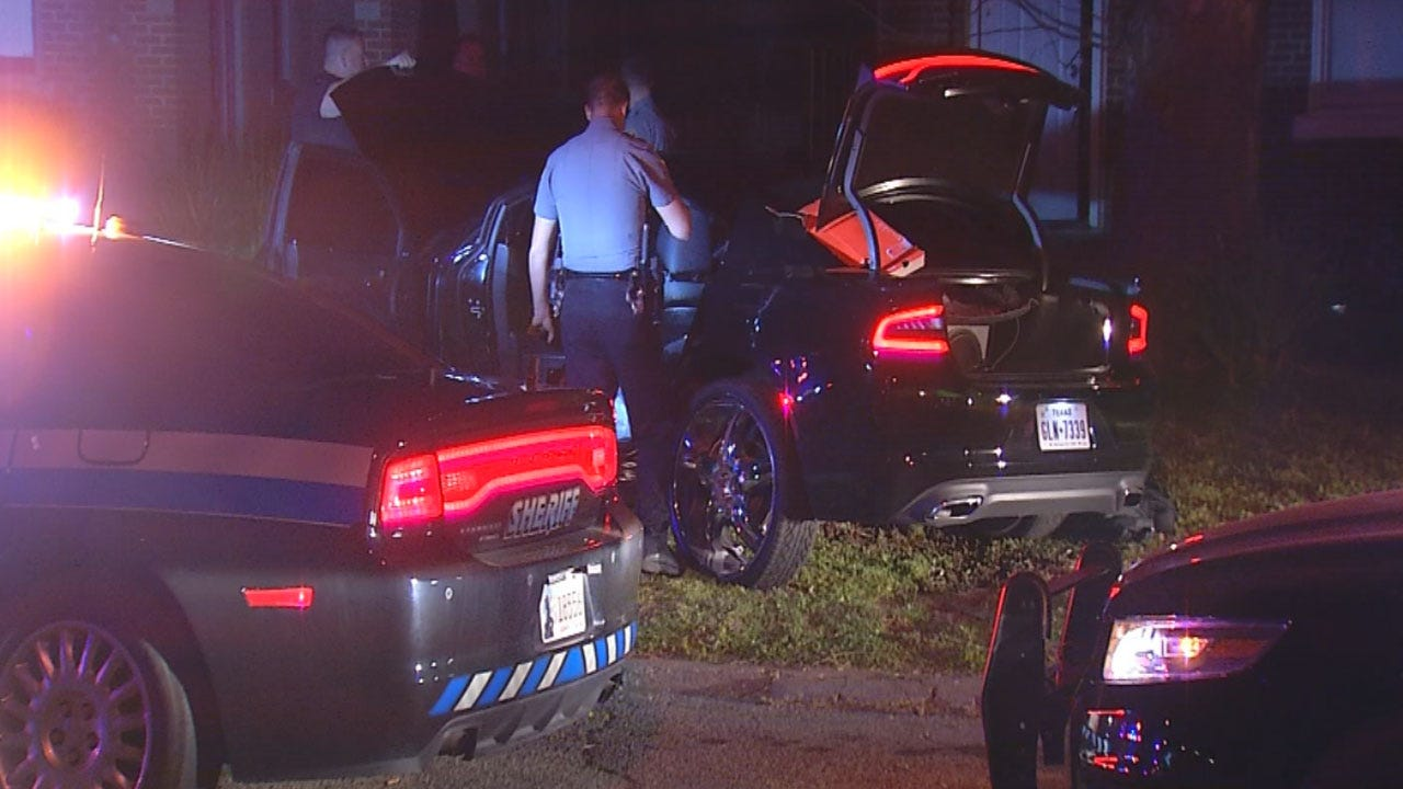 One Arrested, One At Large After OKC Pursuit Ends In Crash