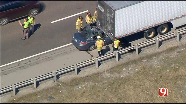OHP Identifies Driver Killed After Crashing Into Semi On Turner Turnpike