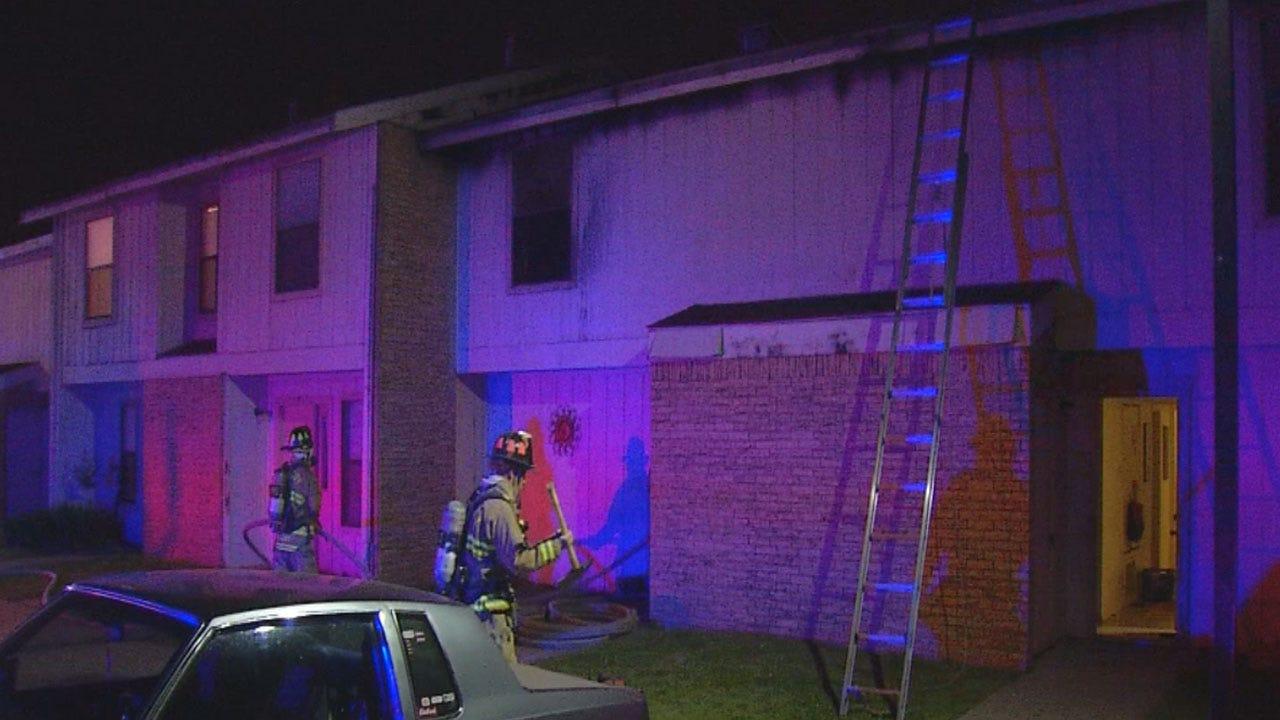 Family Escapes Apartment Fire In North OKC
