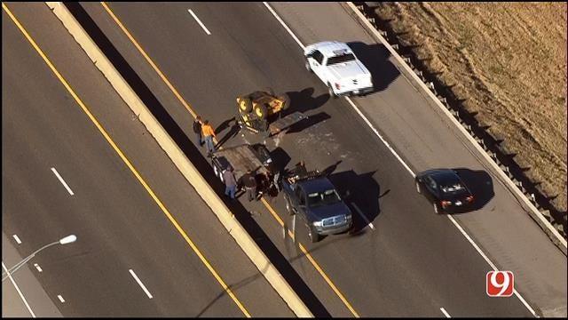 Crash Shuts Down WB Turner Turnpike Near Luther/Jones Exit
