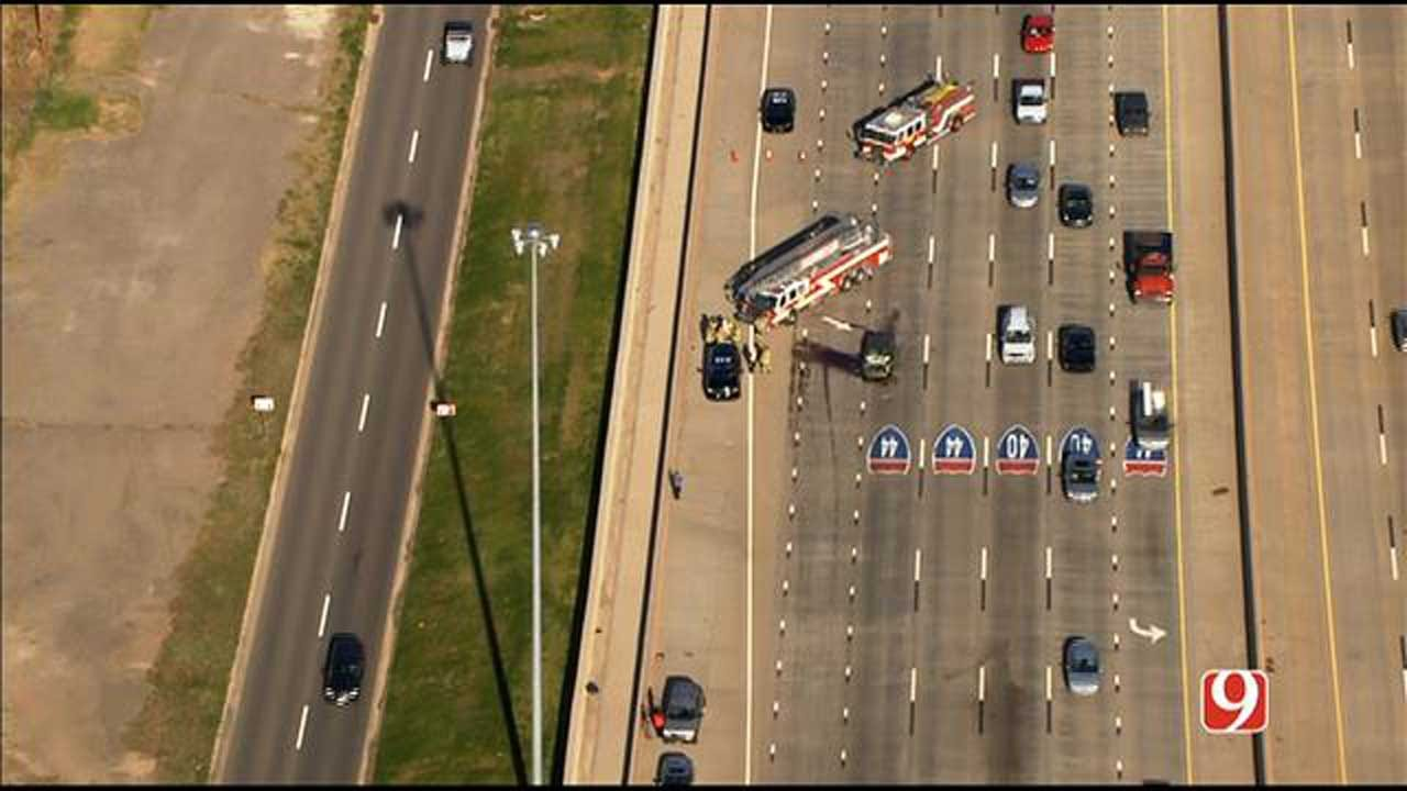 Emergency Crews Respond To Multi-Vehicle Accident In NW OKC