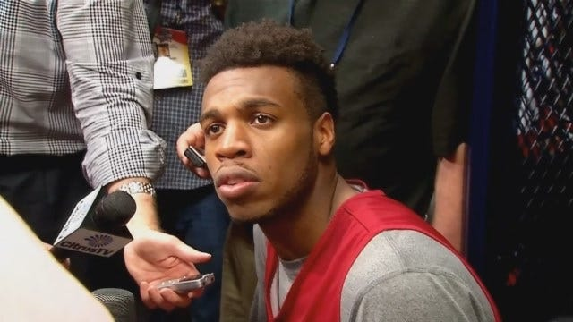 WATCH: Buddy Hield Talks With Reporters In Houston Before Final Four