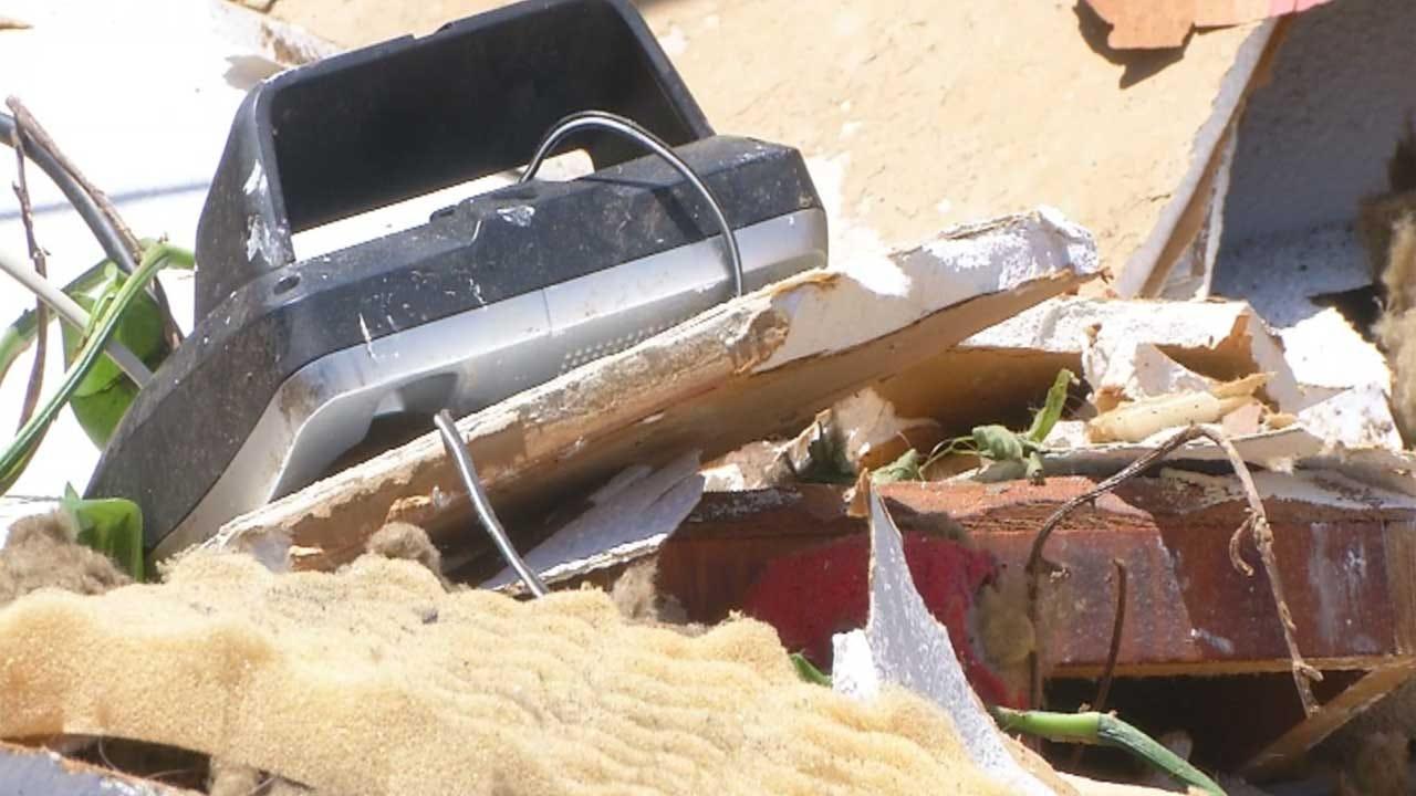 Neighbors Survey Damage After Tornado Rips Through Murray County