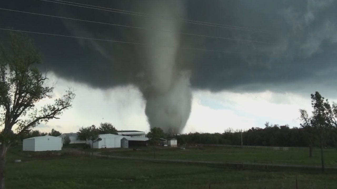 NWS Confirms At Least EF-3 Damage With Tornado Near Katie
