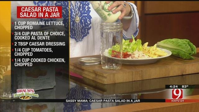 Caesar Pasta Salad in a Jar
