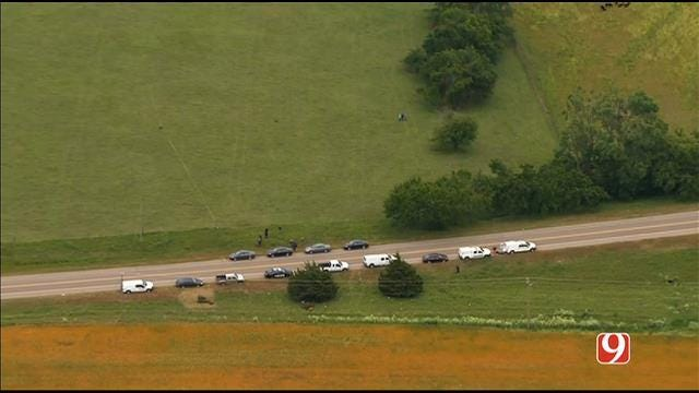 OKC Police Investigate Scene Where Bones, Pistol Found