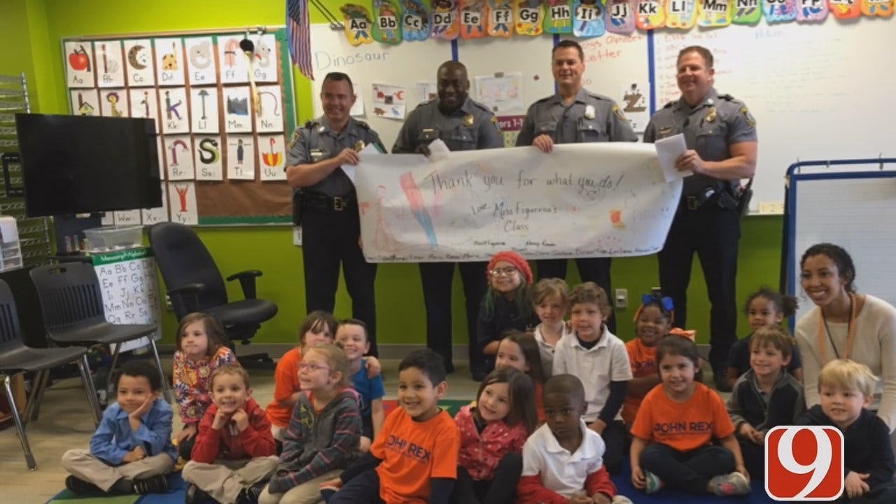 OKC Pre-K Students Honor Police Officers