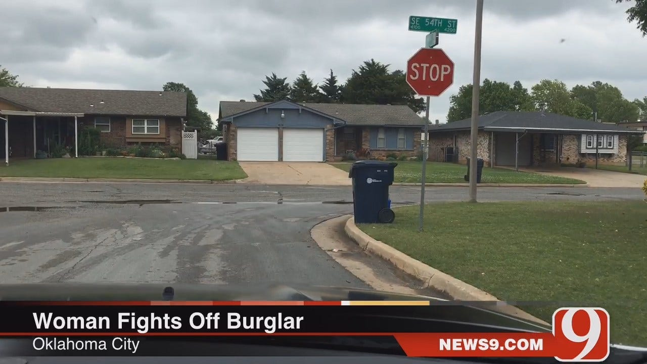 OKC Woman Fights Off Burglary Suspect