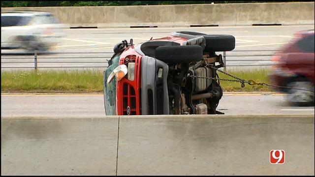 Rollover Crash Snarls Traffic On WB I-44 In NW OKC