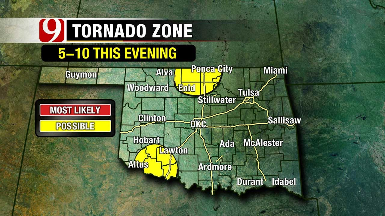 Tornadoes Touch Down In Northern Oklahoma