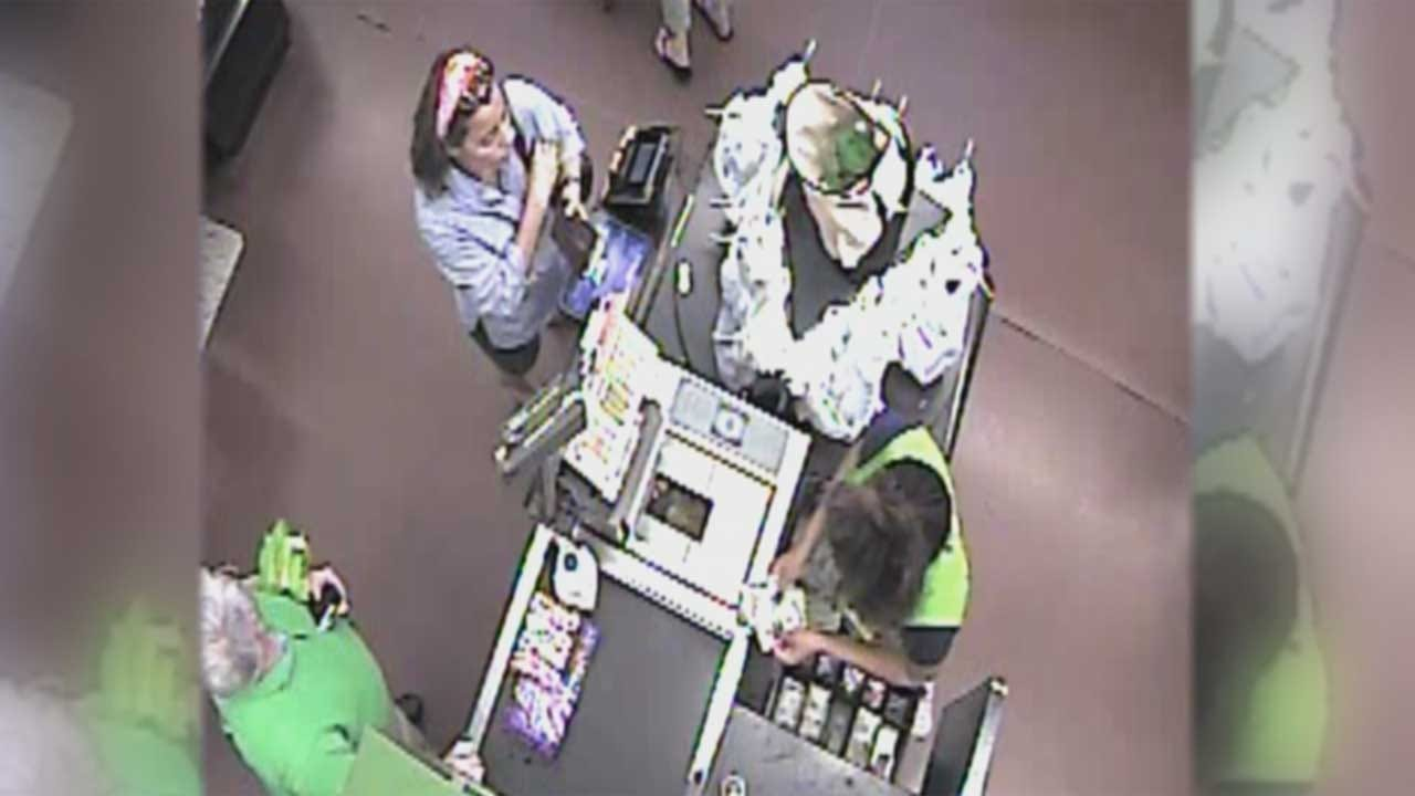 Woman Steals Wallet With Victim Nearby