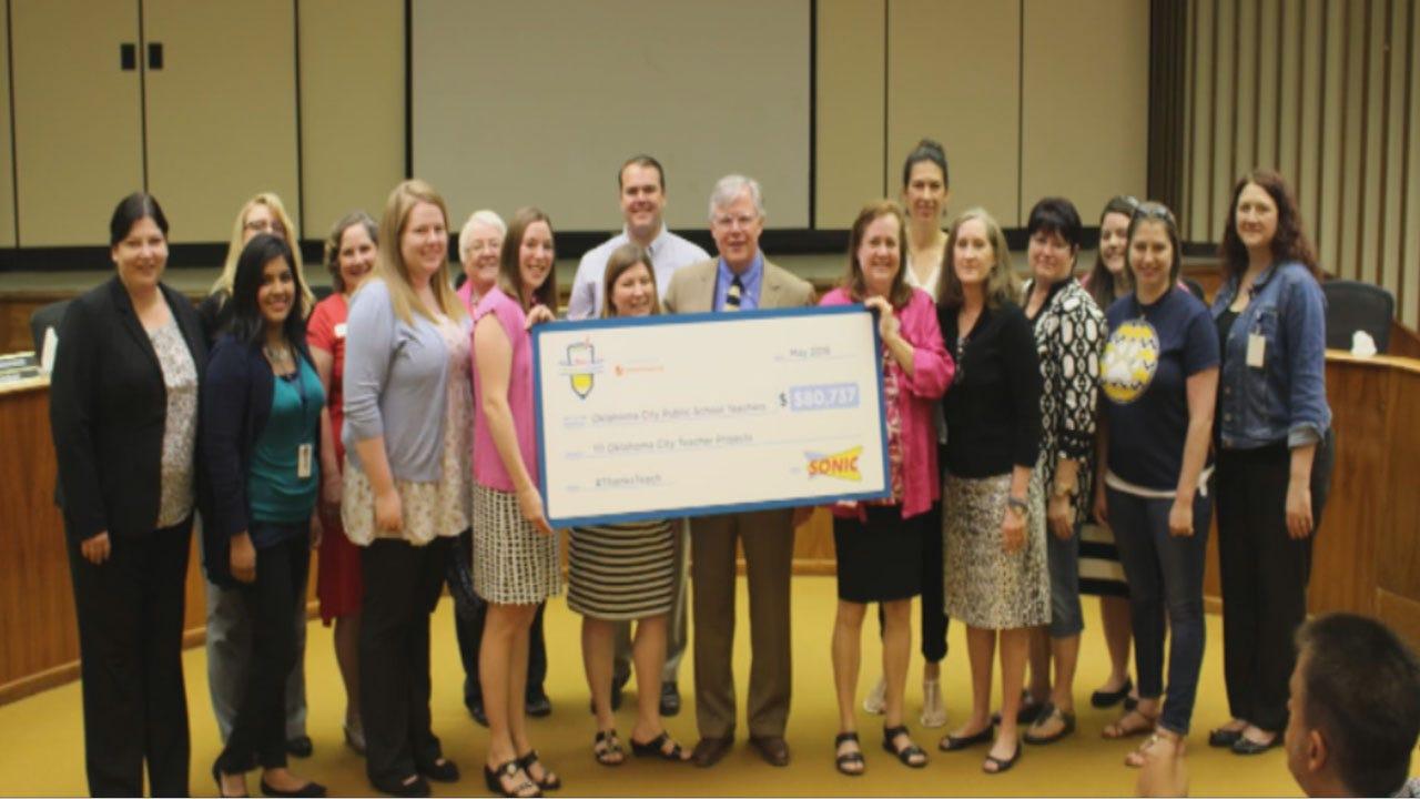 Sonic Surprises OKC Teachers With $80K Donation