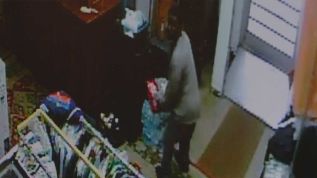 Caught On Camera: Suspect Breaks Into Downtown Business