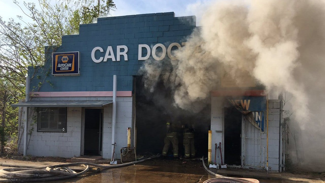 Firefighters Fight Commercial Building Fire Near Downtown OKC
