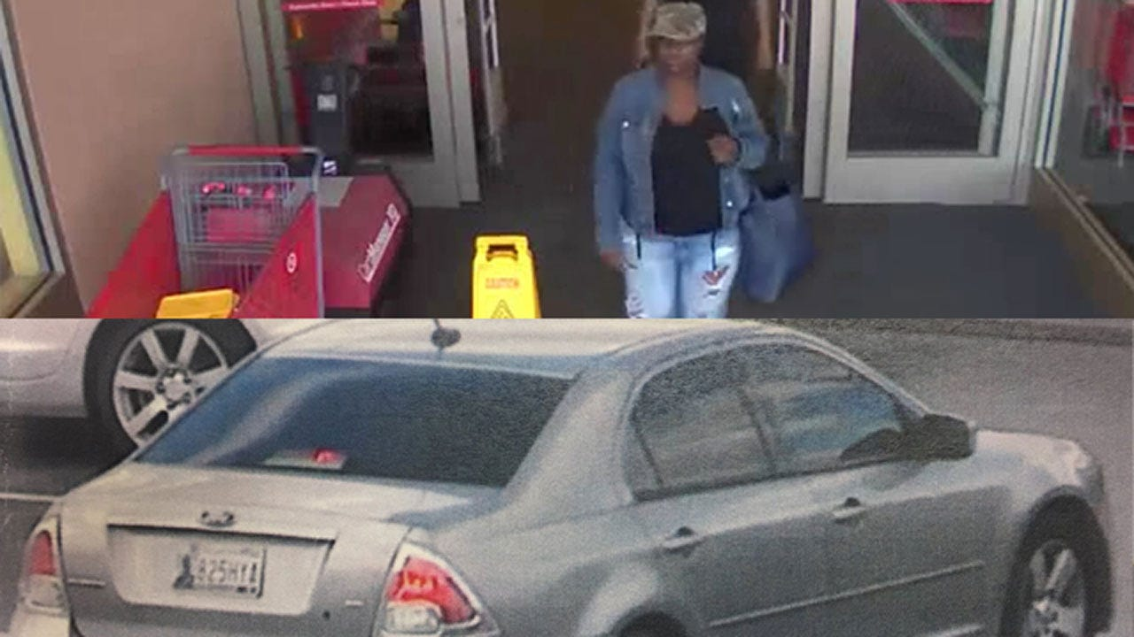 OKC Police Release Car Tag Of Suspected Target Shoplifter