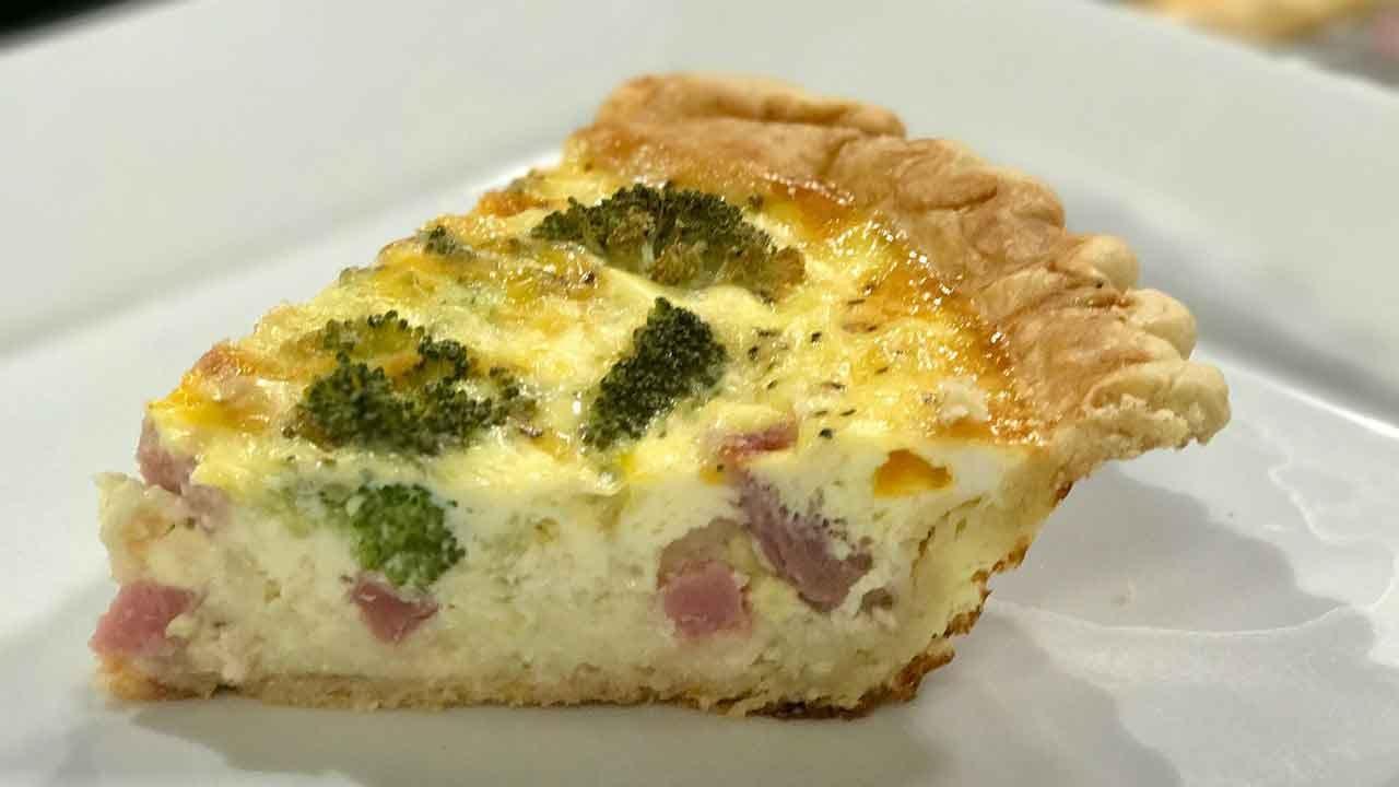 Broccoli & Ham Quiche