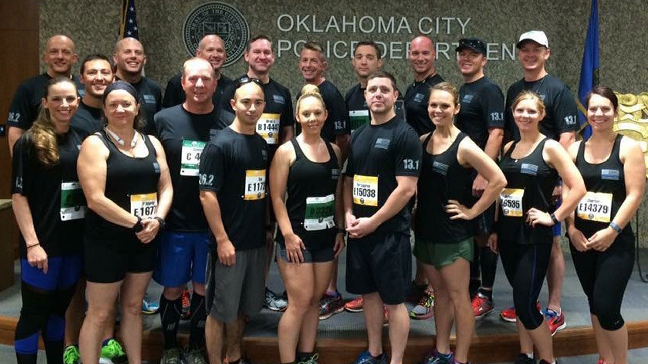OKC Police Run Together In Memorial Marathon