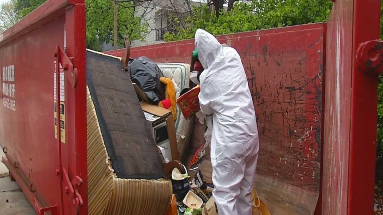 Volunteers Begin Cleanup Of NW OKC Man's Filthy Home