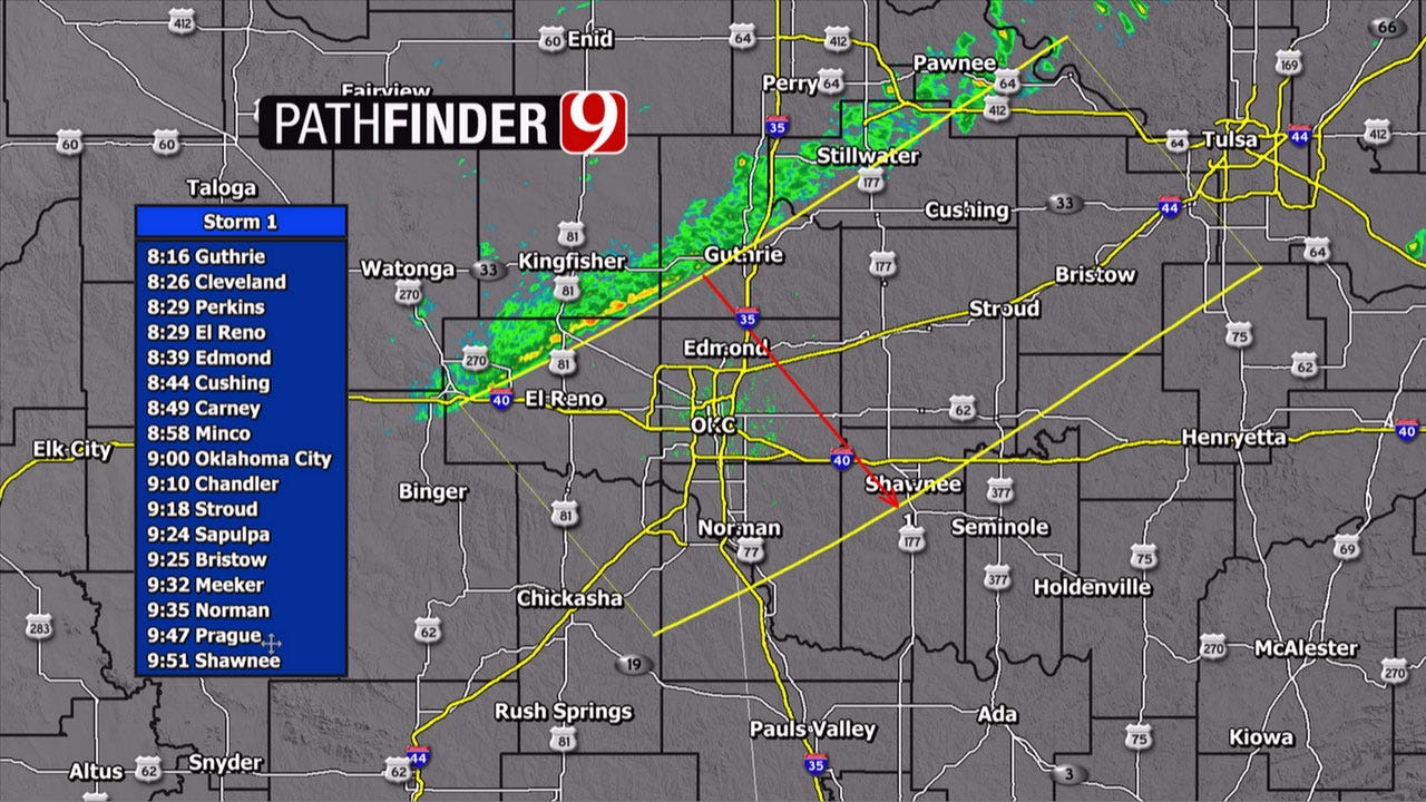 Cold Front Pushing Through Oklahoma Thursday With Scattered Showers, Storms
