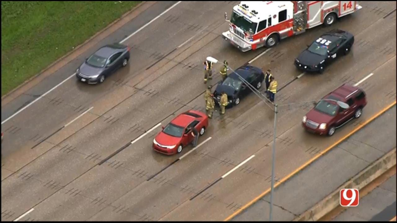 Emergency Crews At Scene Of Accident In NW OKC
