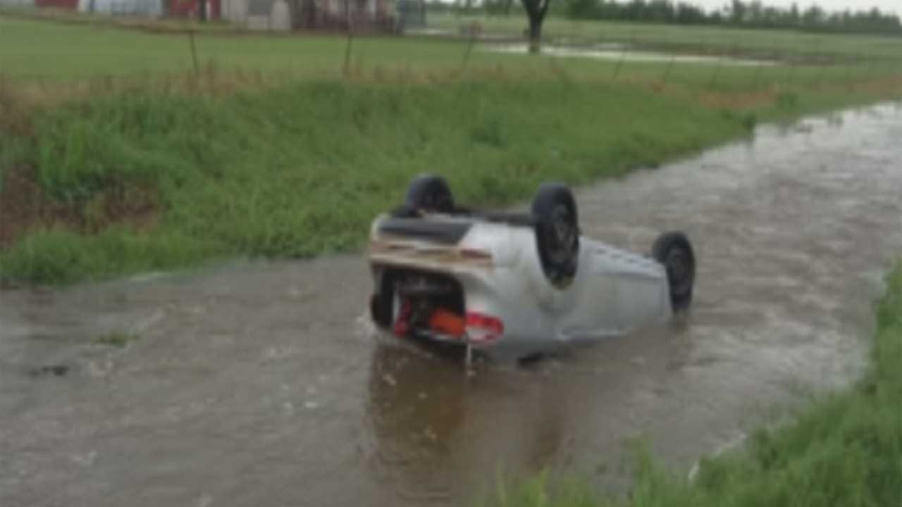 Deputy Rescues Family From Submerged Vehicle During Severe Storm