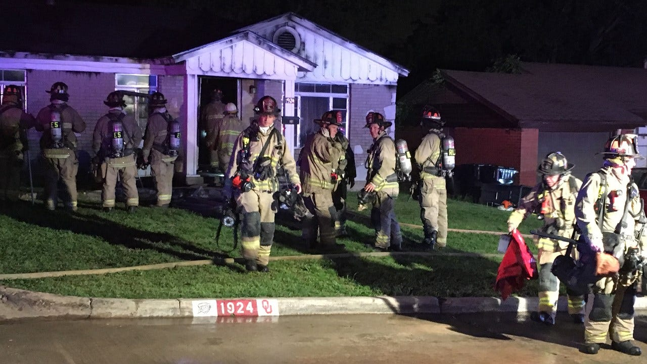 Firefighters Fight House Fire In NE OKC