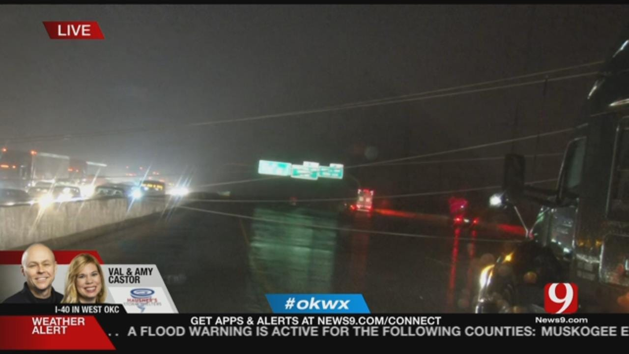 Downed Power Lines Close I-40 In OKC