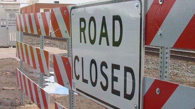 Crews Repair Hole In Del City Bridge On WB I-40