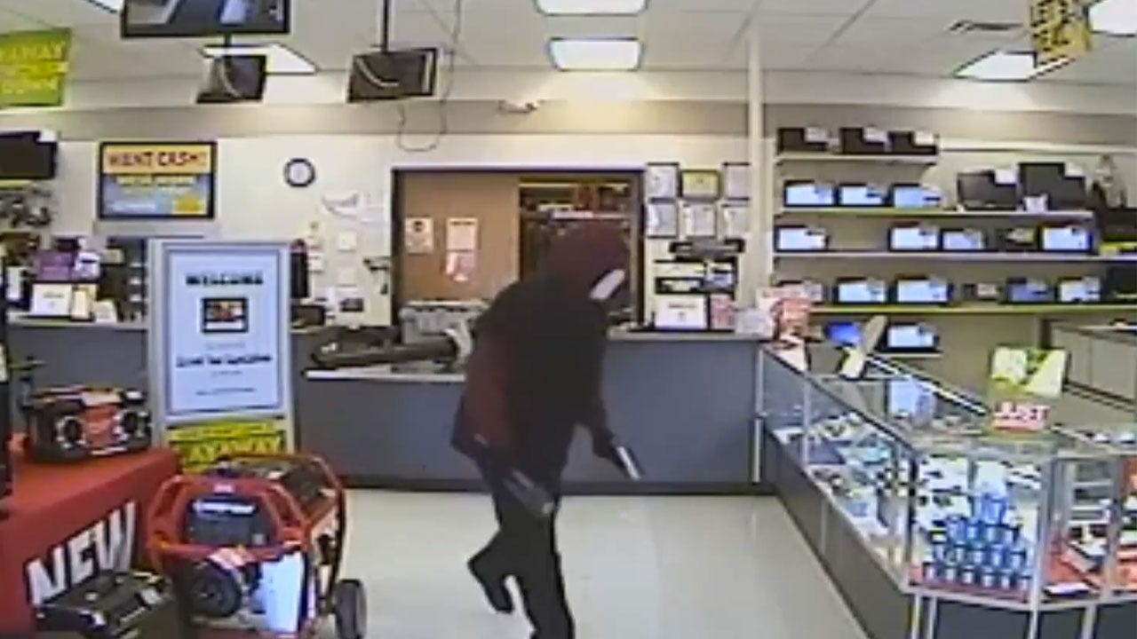 Suspect In Armed Robbery Of NW OKC Pawn Shop Sought