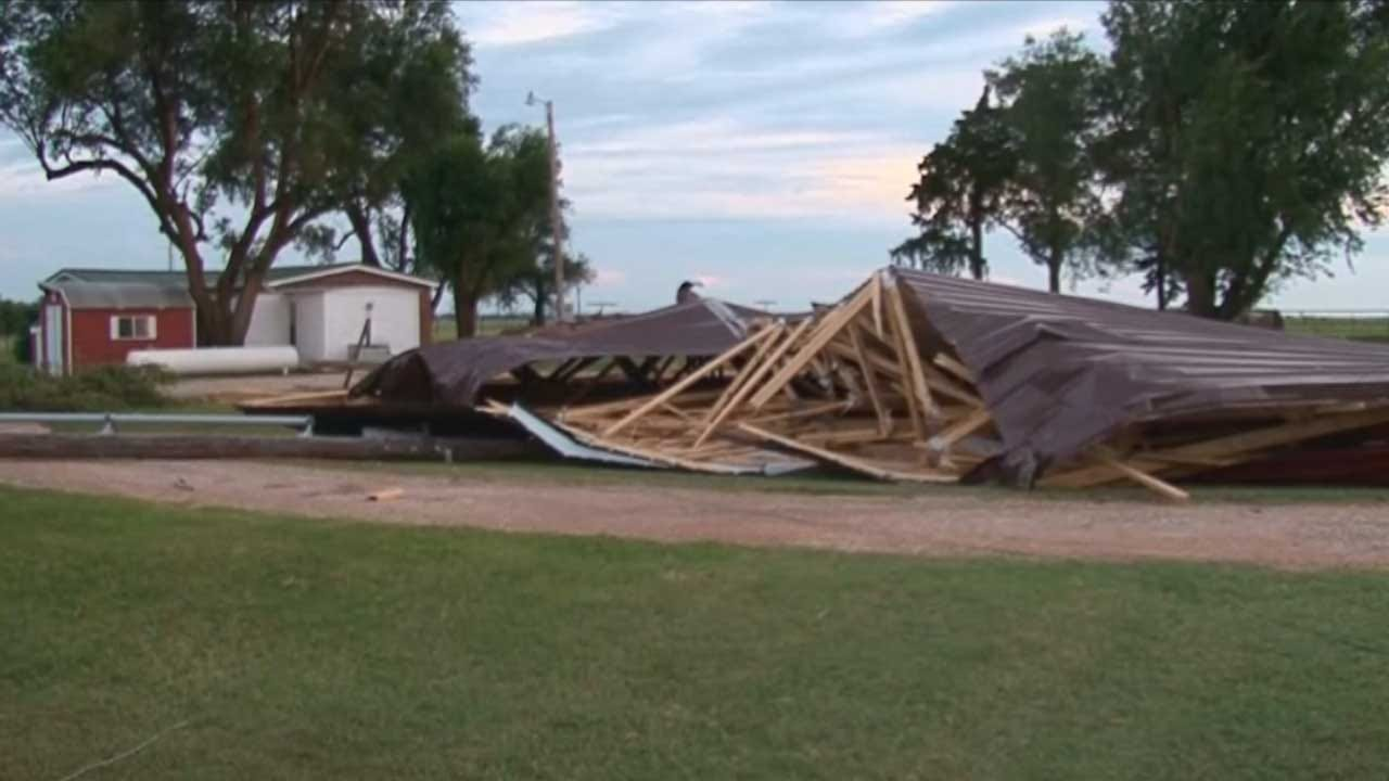 Severe Storms Cause Damage In Kingfisher County
