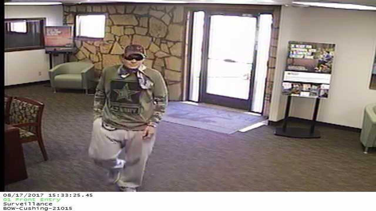 Reward Offered For Information On Cushing Bank Robbery