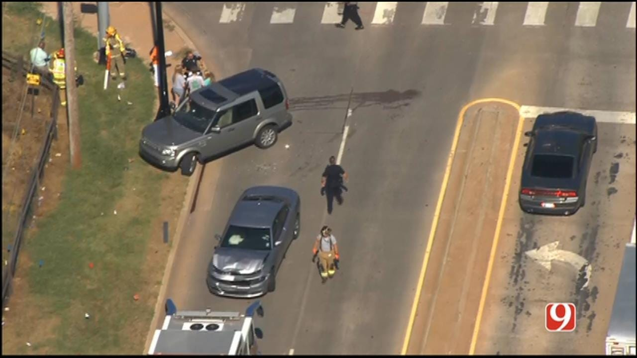 Two-Vehicle Crash Shuts Down WB 2nd Street In Edmond