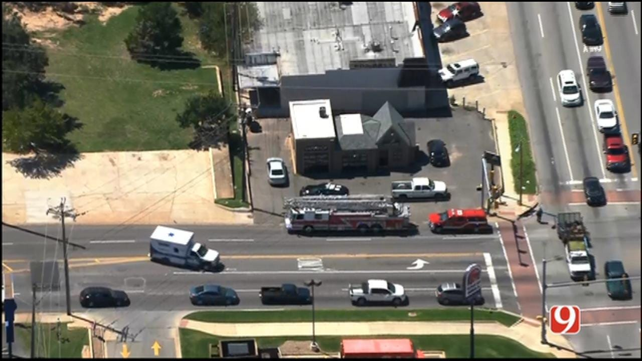 Crash Involving Fire Truck Reported In NW OKC