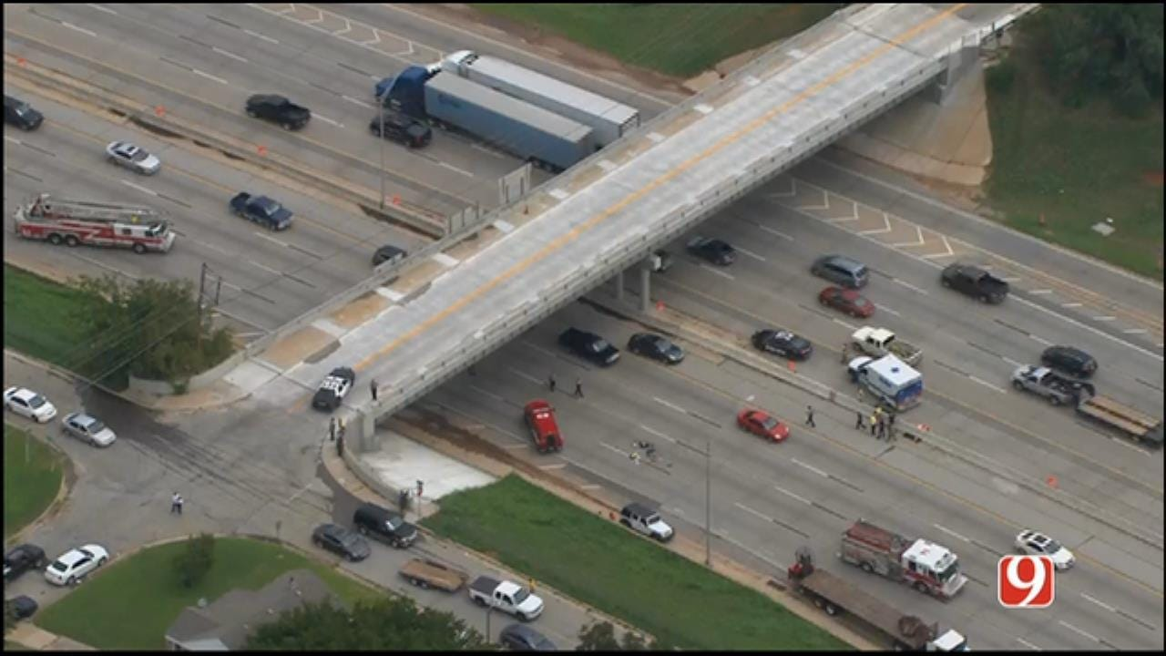 Woman Dies After Fall From I-44 Bridge In NW OKC