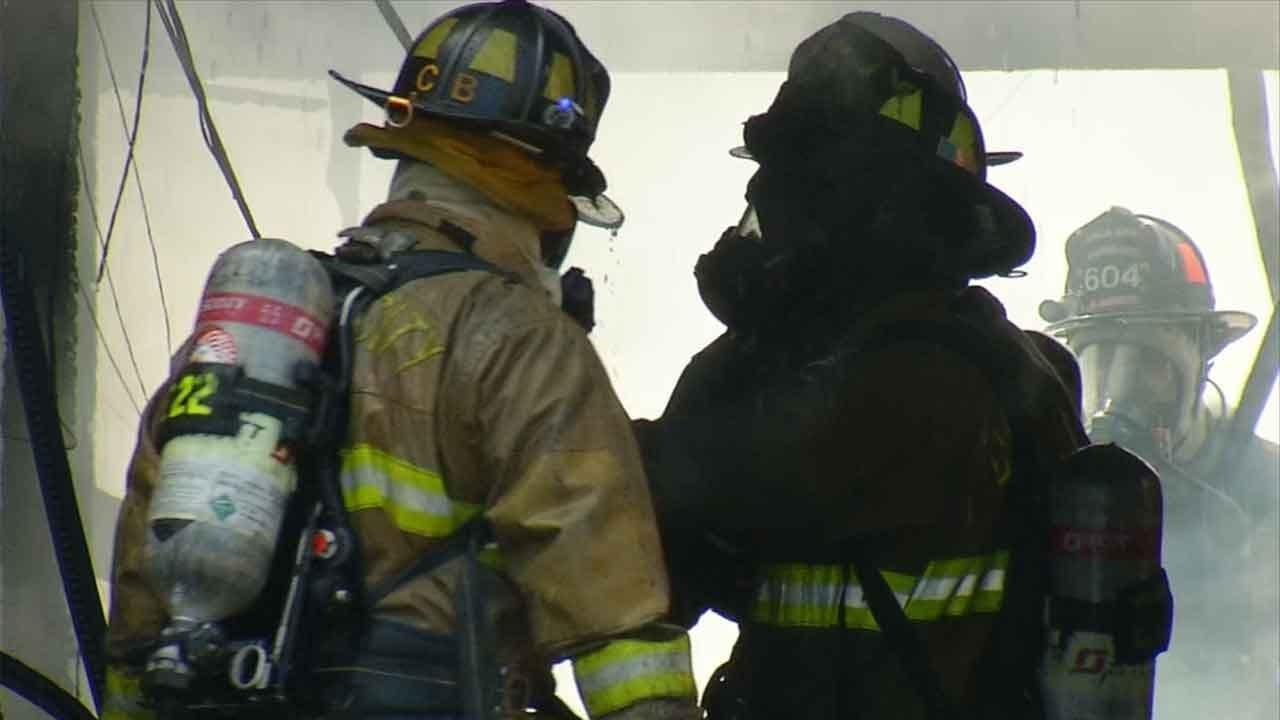 Crews Respond To Fire At Brookwood Village Apts. In SW OKC