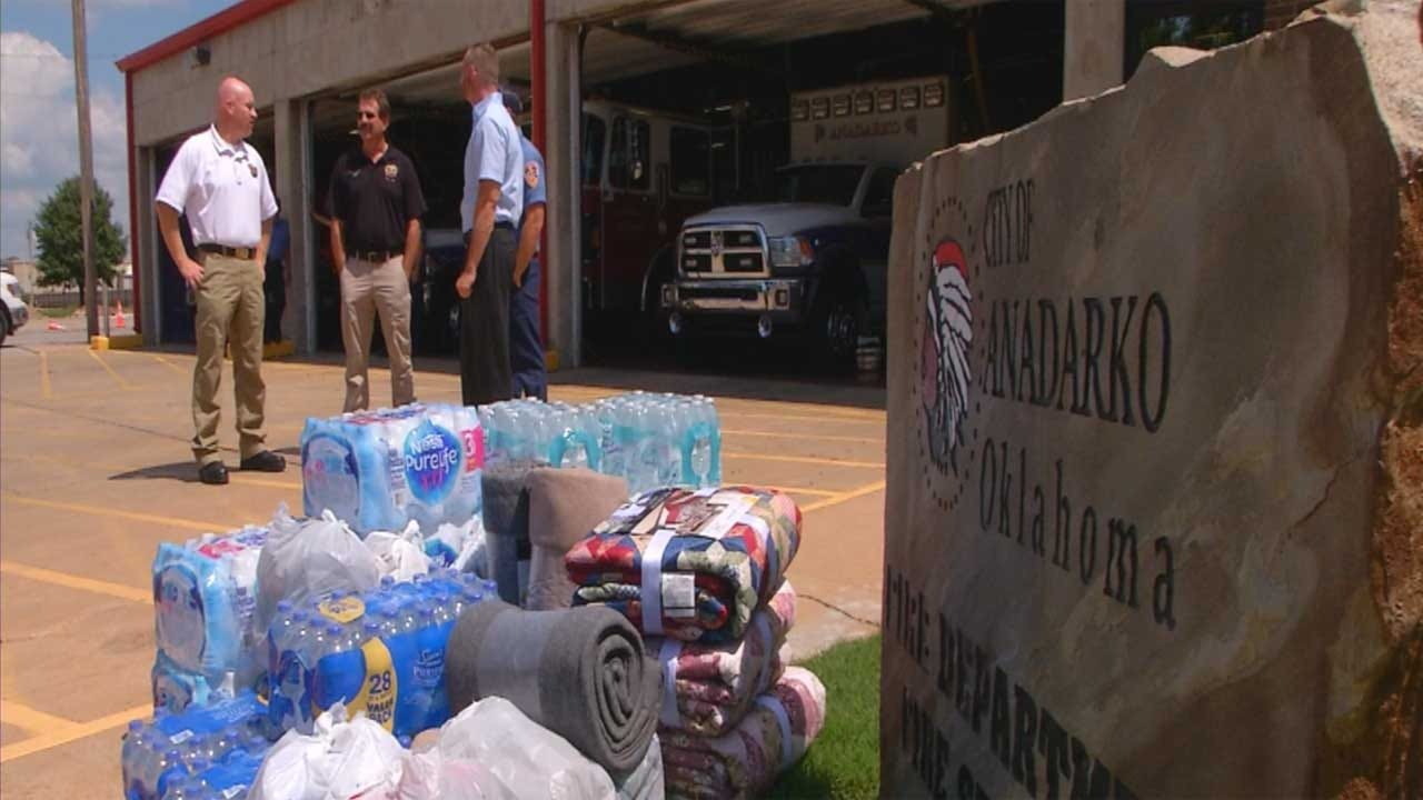 City Of Anadarko Collects Donations For People Affected By Hurricane Harvey