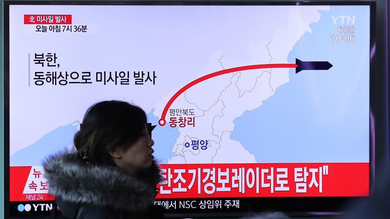 North Korea Fires Ballistic Missile, South Korea Says