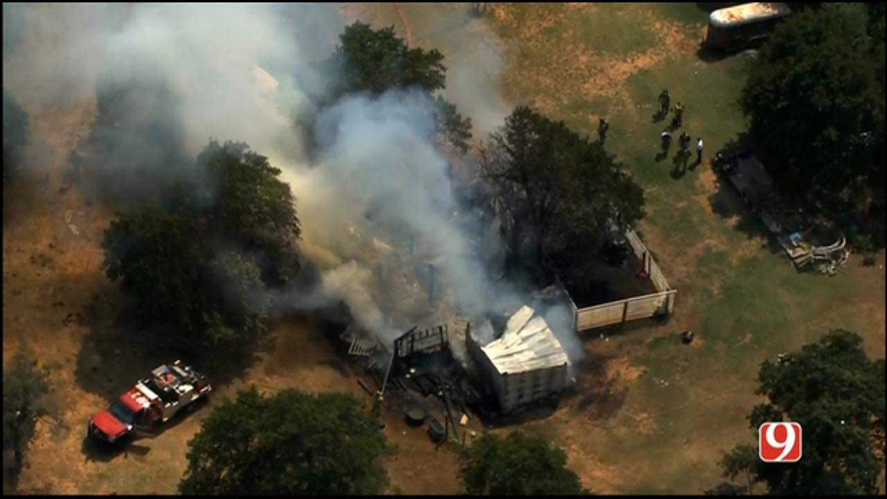 Crews Respond To Barn, Hay Fire In NE OKC