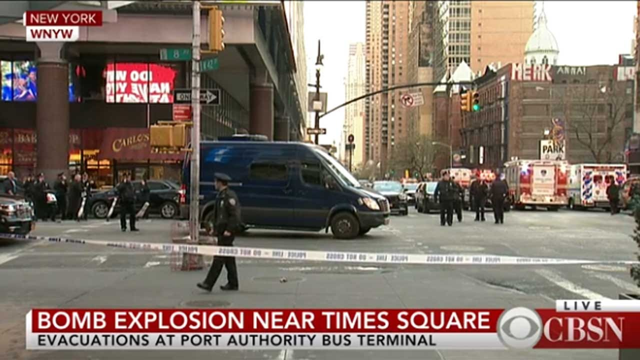 Explosion Rocks Port Authority Bus Terminal In New York City