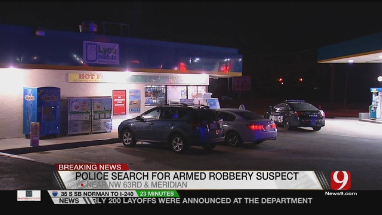Police Search For Armed Robbery Suspect In NW OKC